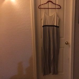Great maxi dress in cream, black, and gray!